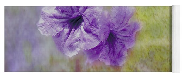 Yoga Mat featuring the photograph Mexican Petunia by Judy Hall-Folde