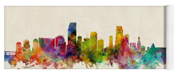 Miami Florida Skyline Yoga Mat