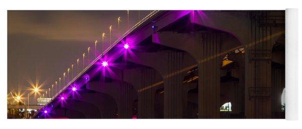 Miami Macarthur Causeway Bridge Yoga Mat