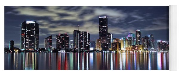 Miami Skyline Yoga Mat