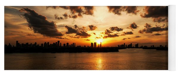 Miami Skyline Sunset Yoga Mat