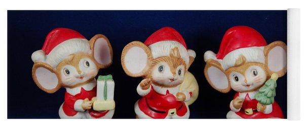 Mice Holiday Yoga Mat