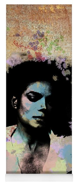 Michael Jackson - Scatter Watercolor Yoga Mat