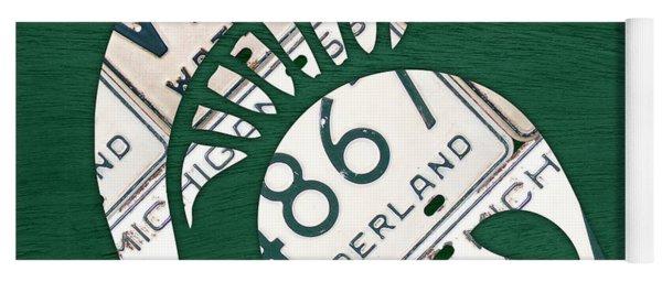 Michigan State Spartans Sports Retro Logo License Plate Fan Art Yoga Mat