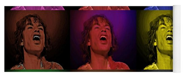 Mick Jagger Pop Art Print Yoga Mat