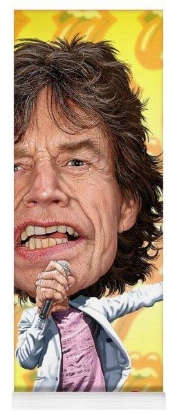 Mick Jagger Yoga Mat