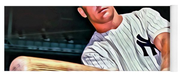 Mickey Mantle Painting Yoga Mat
