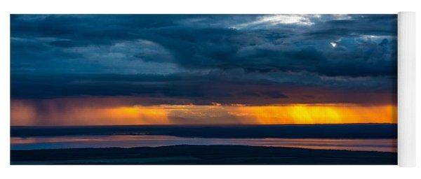 Midnight Alaskan Storms Yoga Mat