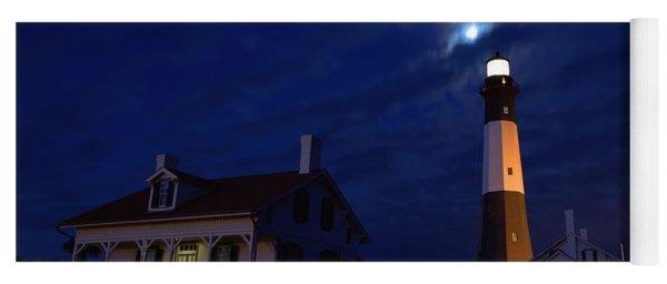 Midnight Moon Over Tybee Island Yoga Mat