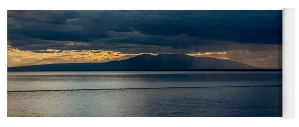 Midnight Storms Over Mount Susitna Yoga Mat