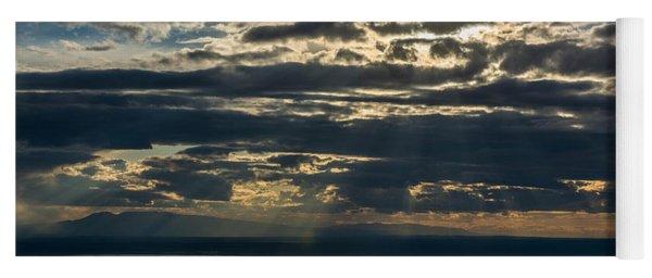 Midnight Sun Over Mount Susitna Yoga Mat