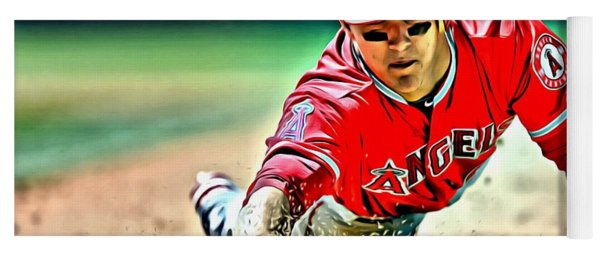 Mike Trout Painting Yoga Mat