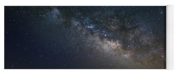 Milky Way Above The Trees Yoga Mat