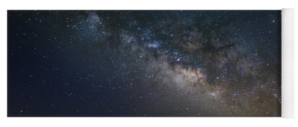 Yoga Mat featuring the photograph Milky Way Above The Trees by Todd Aaron
