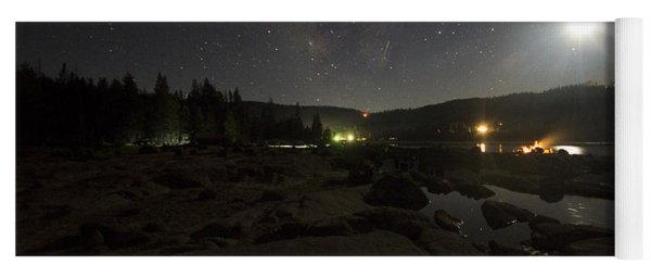 Milky-way Over Plasse's Resort - Silver Lake Yoga Mat