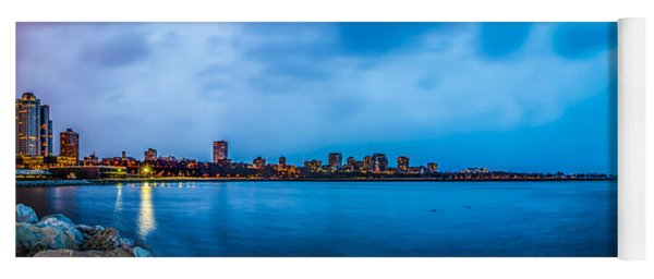 Yoga Mat featuring the photograph Milwaukee Skyline - Version 2 by Steven Santamour