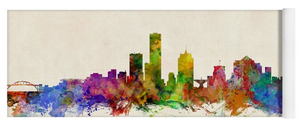 Milwaukee Wisconsin Skyline Yoga Mat