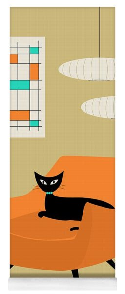 Mini Abstract With Orange Chair Yoga Mat
