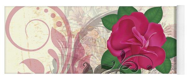 Mini Rose Flourish Yoga Mat