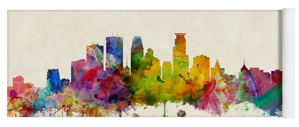Minneapolis Minnesota Skyline Yoga Mat