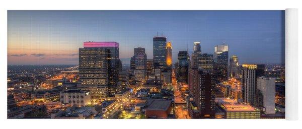 Minneapolis Skyline At Night Yoga Mat