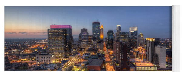 Minneapolis Skyline At Night Yoga Mat
