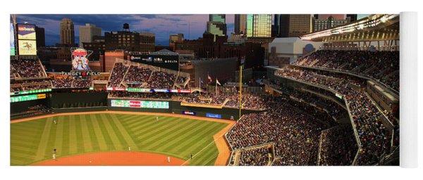 Minnesota Twins Minneapolis Skyline Target Field Yoga Mat