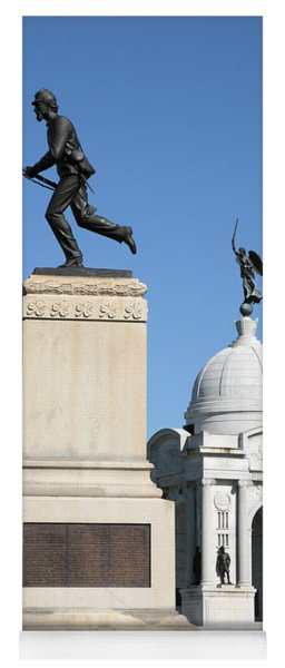 Minnesota And Pennsylvania Monuments At Gettysburg Yoga Mat