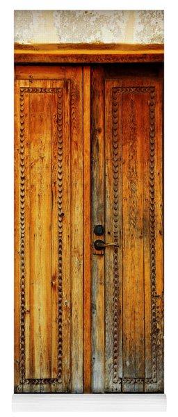 Mission San Juan Capistrano Door -- San Antonio Yoga Mat