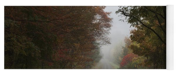Misty Fall Morning Yoga Mat