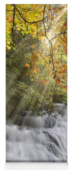 Misty Falls At Coker Creek Yoga Mat