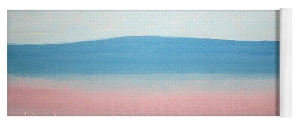 Misty Lake Original Painting Yoga Mat