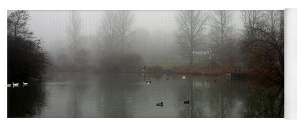 Misty Lake Reflections Yoga Mat