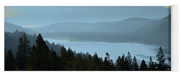 Misty Morning At Donner Lake Yoga Mat