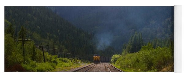 Misty Mountain Train Yoga Mat