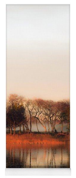 Misty Winter's Morning Yoga Mat