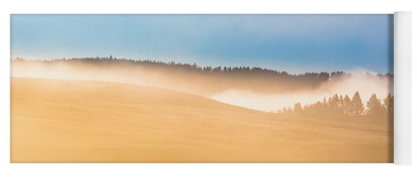 Misty Yellowstone   Yoga Mat