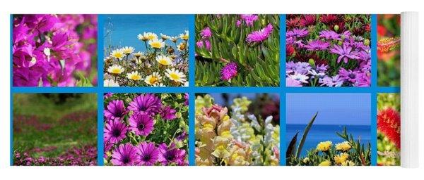Mixed Of Aegean Wildflowers By Julia Fine Art Yoga Mat