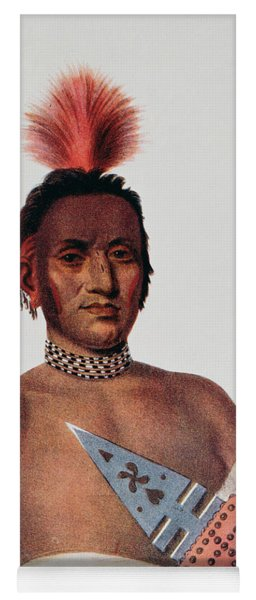 Moa-na-hon-ga Or Great Walker, An Iowa Chief, 1824, Illustration From The Indian Tribes Of North Yoga Mat