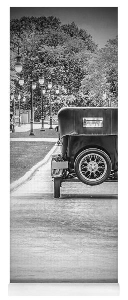 Model T Ford Down The Road Yoga Mat