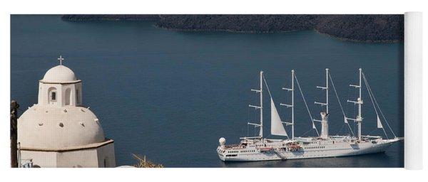 Modern Windpowered Ship Yoga Mat