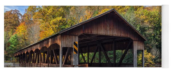 Mohican Covered Bridge Yoga Mat