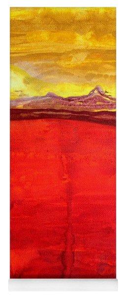 Mojave Dawn Original Painting Yoga Mat