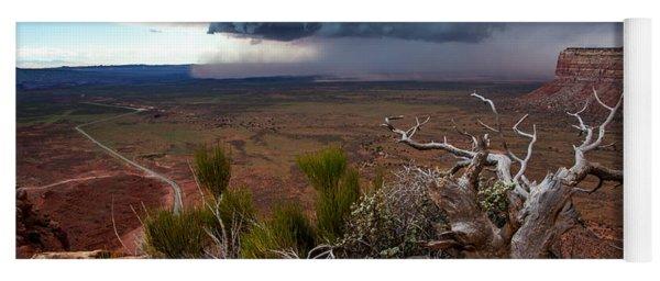 Moki Dugway Thunderstorm - Southern Utah Yoga Mat