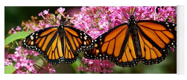 Monarch Butterflies Yoga Mat