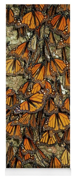 Yoga Mat featuring the photograph Monarch Butterflies Wintering by Thomas Marent