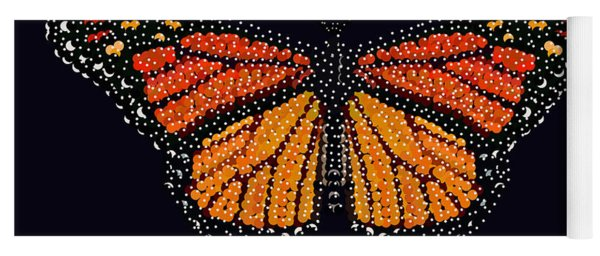 Monarch Butterfly Bedazzled Yoga Mat