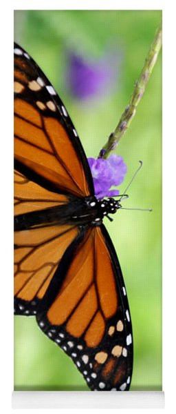 Monarch Butterfly In Spring Yoga Mat