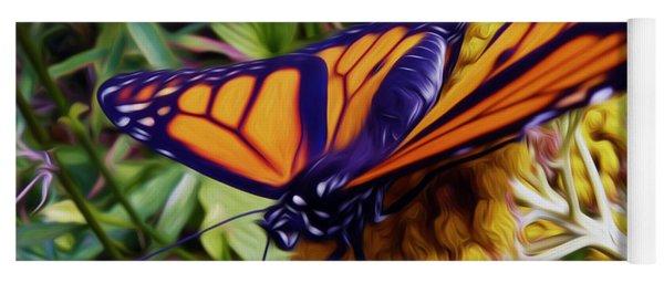 Monarch On Yarrow Yoga Mat