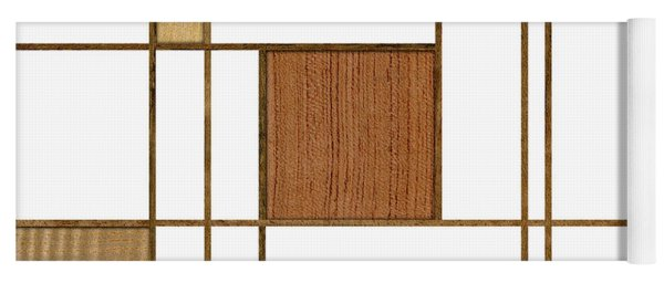 Mondrian In Wood Yoga Mat